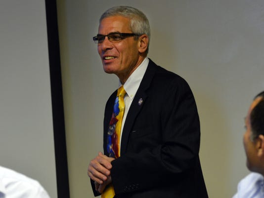 ANI John Rallo Joseph C. Rallo, commissioner of higher education, speaks at the joint meeting of the Louisiana Faculty Senates and Louisiana Statewide Colleagues Collaborative held Saturday, Feb. 7, 2015 at LSUA. -Melinda Martinez/mmartinez@thetowntalk.co