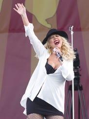 Christina Aguilera at JazzFest
