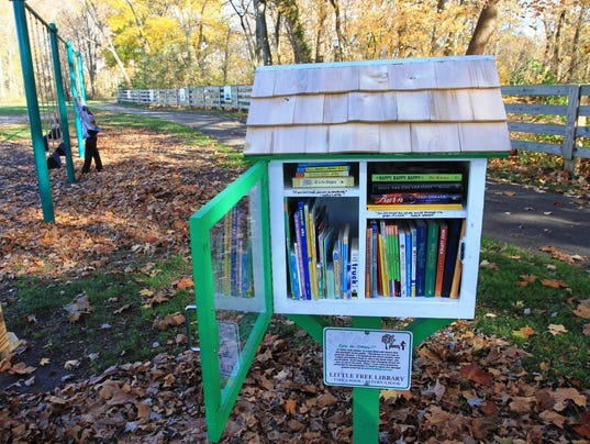 pataskala girl scout places library in municipal park