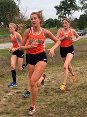 Brighton's (left to right) Lindsey Witte, Olivia Chandler