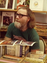 Science fiction and pulp magazine collector Rusty Hevelin,