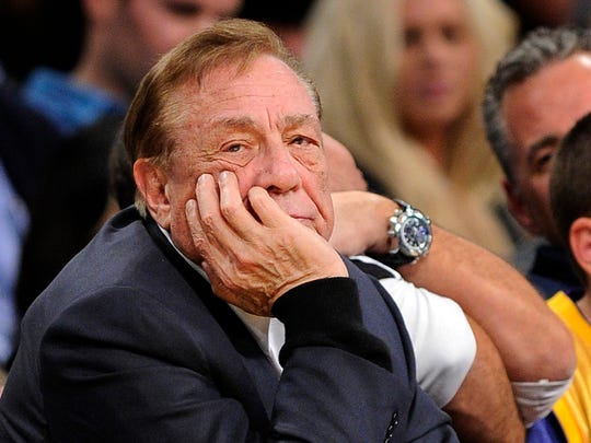 FILE - In this Feb. 25, 2011, file photo, Los Angeles Clippers owner Donald Sterling looks on during the first half of their NBA basketball game against the Los Angeles Lakers in Los Angeles.