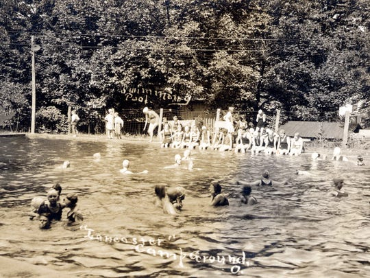 This undated photograph the Lancaster Camp Ground swimming pool in the first half of the 20th century.