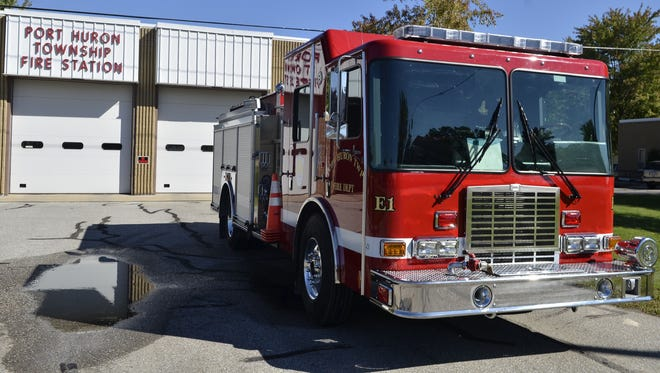 Port Huron Township firefighters responded to a crash on Lapeer early Wednesday.