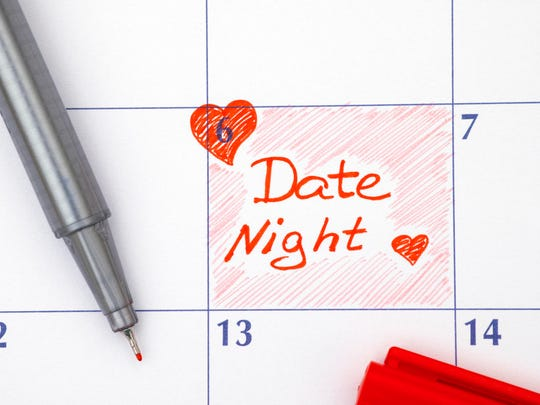 Reminder Date Night in calendar