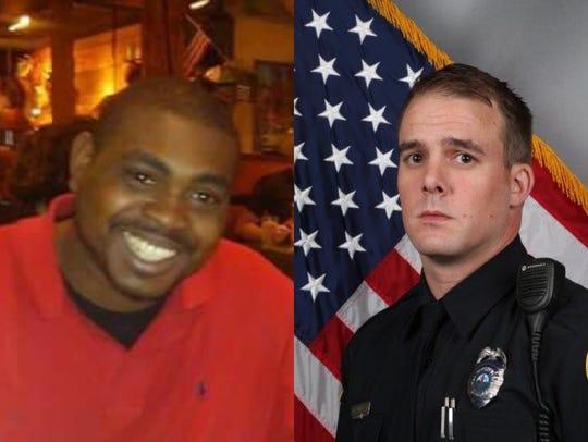 Jocques Clemmons, left, and Metro Nashville Officer