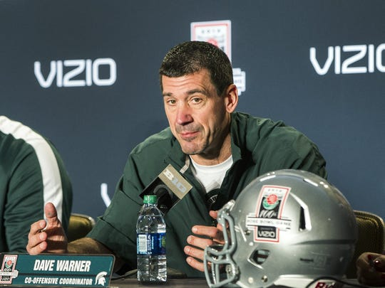 Michigan State co-offensive coordinator Dave Warner