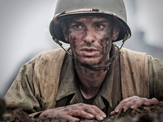 Andrew Garfield as Desmond Doss in a scene from the