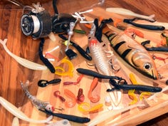 Are soft-plastic fishing lures an environmental menace or simple littering?