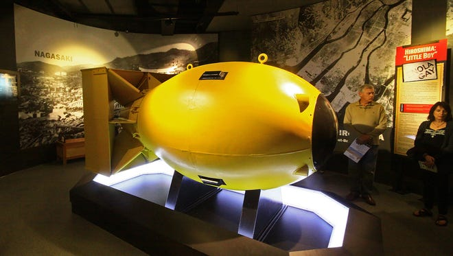 In the National Museum of the Pacific War in Fredericksburg, Texas, you will find a replica of Fat Man, the bomb that devastated Nagasaki, Japan.