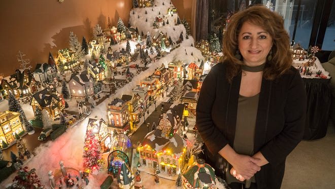 Suzanne Zabowski is serious about Christmas decorating. Her Christmas Village changes from year to year as she gets new ideas.