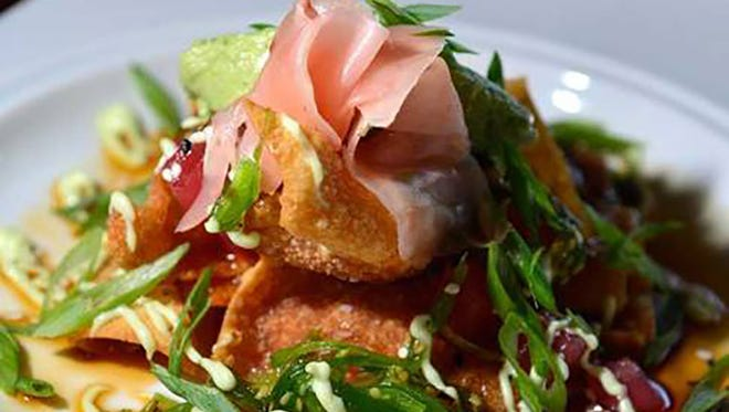 SUSHI NACHOS From Shayne Taylor, Executive Chef at the Pensacola Country Club.