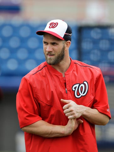 Bryce Harper is moving from right field to left this