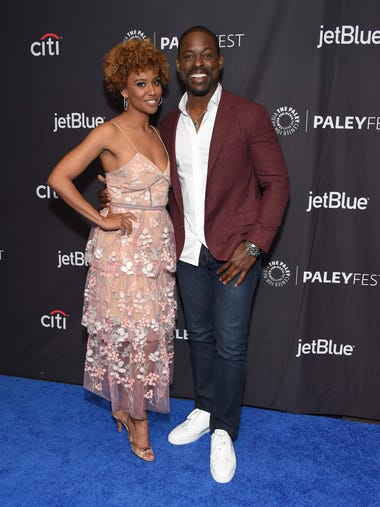 Sterling K. Brown (R) and his wife Ryan Michelle Bathe