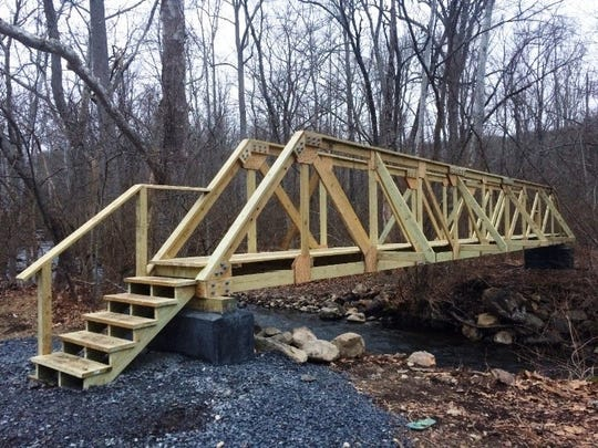 A new footbridge over the Wanaque Reservoir in Long Pond Iron Works State Park in West Milford reconnects many trails. An April 14, 2018 ceremony is due to celebrate is opening.