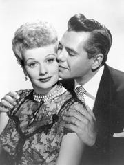 Comedian-actress Lucille Ball and her husband, musician-actor