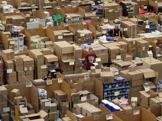 Scenes At The Amazon Fulfillment Centre As Their Busiest Day Approaches
