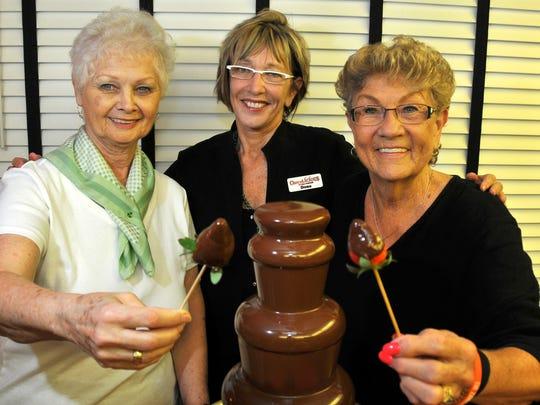 Linda Palardy and Dona Grigsby of Chocolicious Chocolate