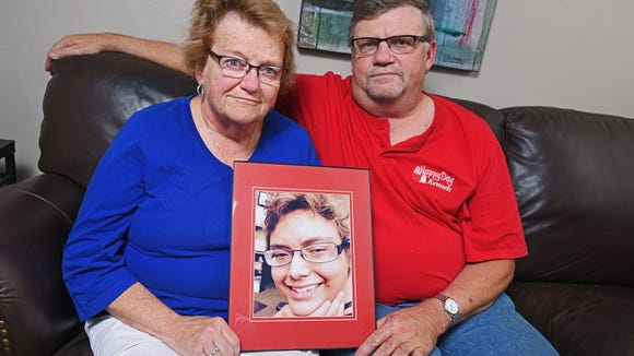 Anney and Jerry Geraets, of Sioux Falls, pose for a