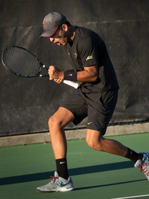 Marco Nuñez is 15-13 in singles play overall for FSU this season.