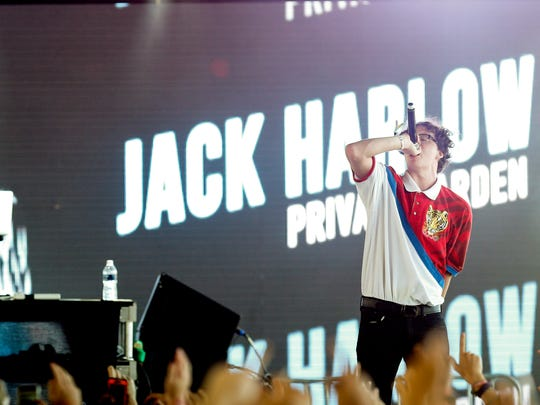 Jack Harlow performs on the Ocean stage at Forecastle