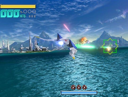 A scene from 'Star Fox: Zero' for Nintendo's Wii U.