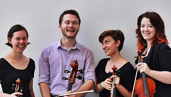 Quartet Davis' members include Molly Tucker and Camille Vogley-Howes on violins, violist Emily Edelstein and Karl Henry on cello.