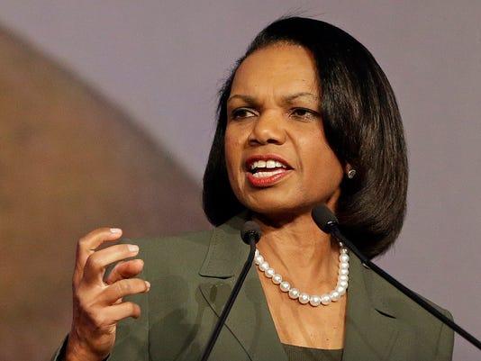 Condi Rice wades into GOP politics