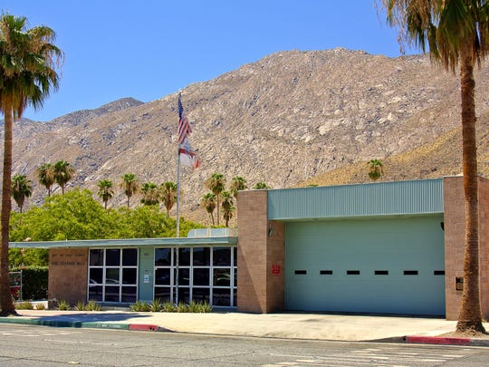 277 N. Indian Canyon Drive - Designed by Architect Albert Frey & Robson Chambers in 1957. The building remains intact and still serves as Palm Springs Fire Station #1(401). The colors of the corrugated aluminum and the concrete block are complimentary to the desert and are Frey's signature elements.