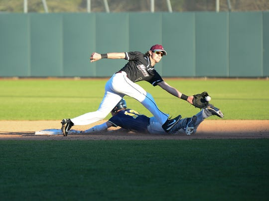 Maryland Eastern Shore's Dillon Oxyer with the play