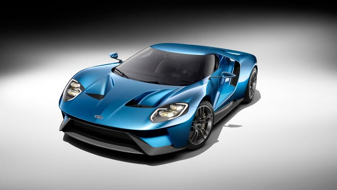 The all-new, carbon-fiber, mid-engined Ford GT supercar, expected to go into production in 2016.