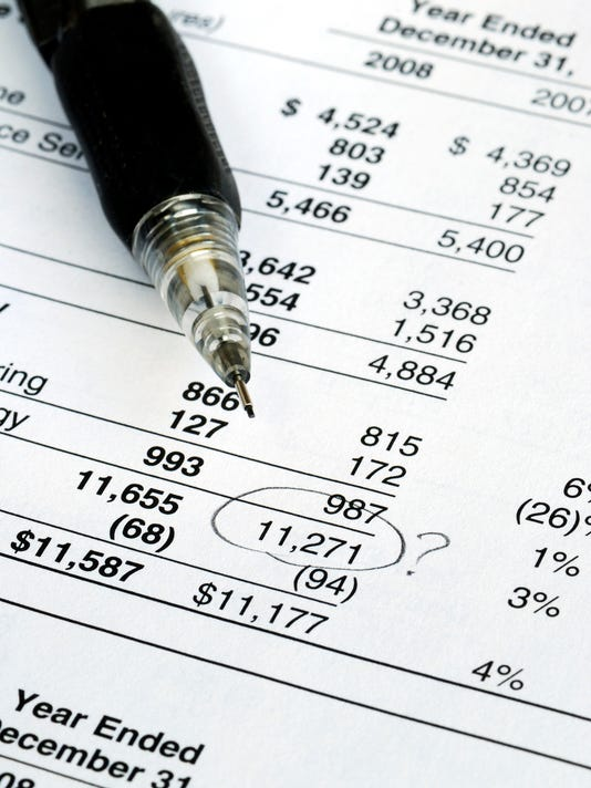 Find a mistake in the financial statement