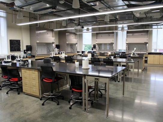 An example of one of the lab spaces in the newly dedicated