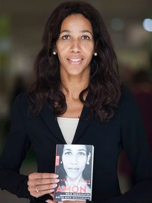 """In this photo, German author Jennifer Teege poses during the Jerusalem International Book Festival. Jennifer is the granddaughter of Amon Goeth, the notoriously cruel camp commander of the Plaszow concentration camp portrayed by actor Ralph Fiennes in the Academy Award-winning film """"Schindler's List."""""""