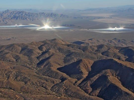Ivanpah aerial solar