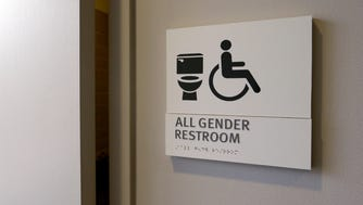 An all-gender restroom at Seattle City Hall.