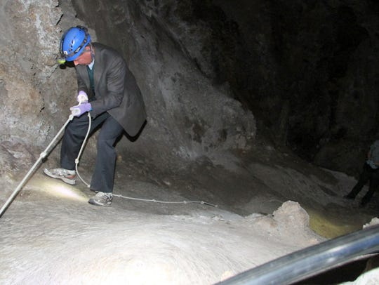 Sen. Tom Udall toured the lower cave at Carlsbad Caverns