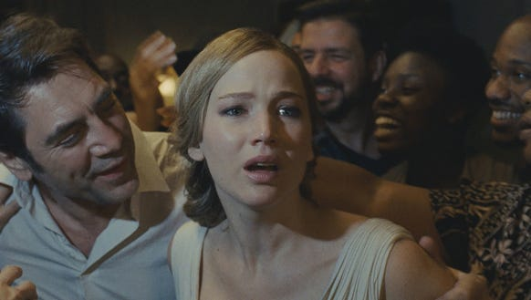 "In ""mother!"" Jennifer Lawrence plays Javier Bardem's"