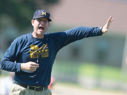 Coach Jim Harbaugh Camp Alabama 105