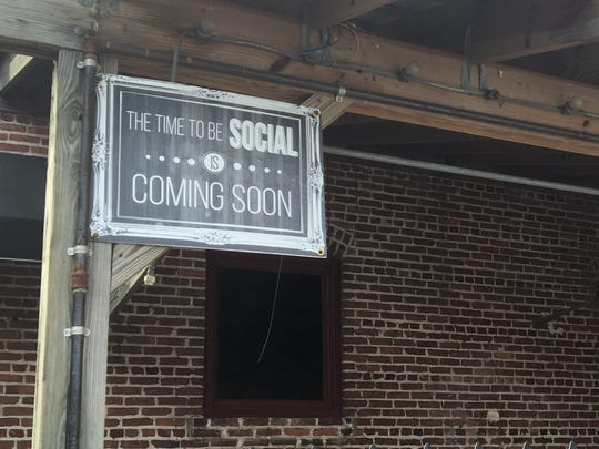 Signs are up for Social, a new venture coming to the old Spirits of Bacchus space in downtown Fort Myers.