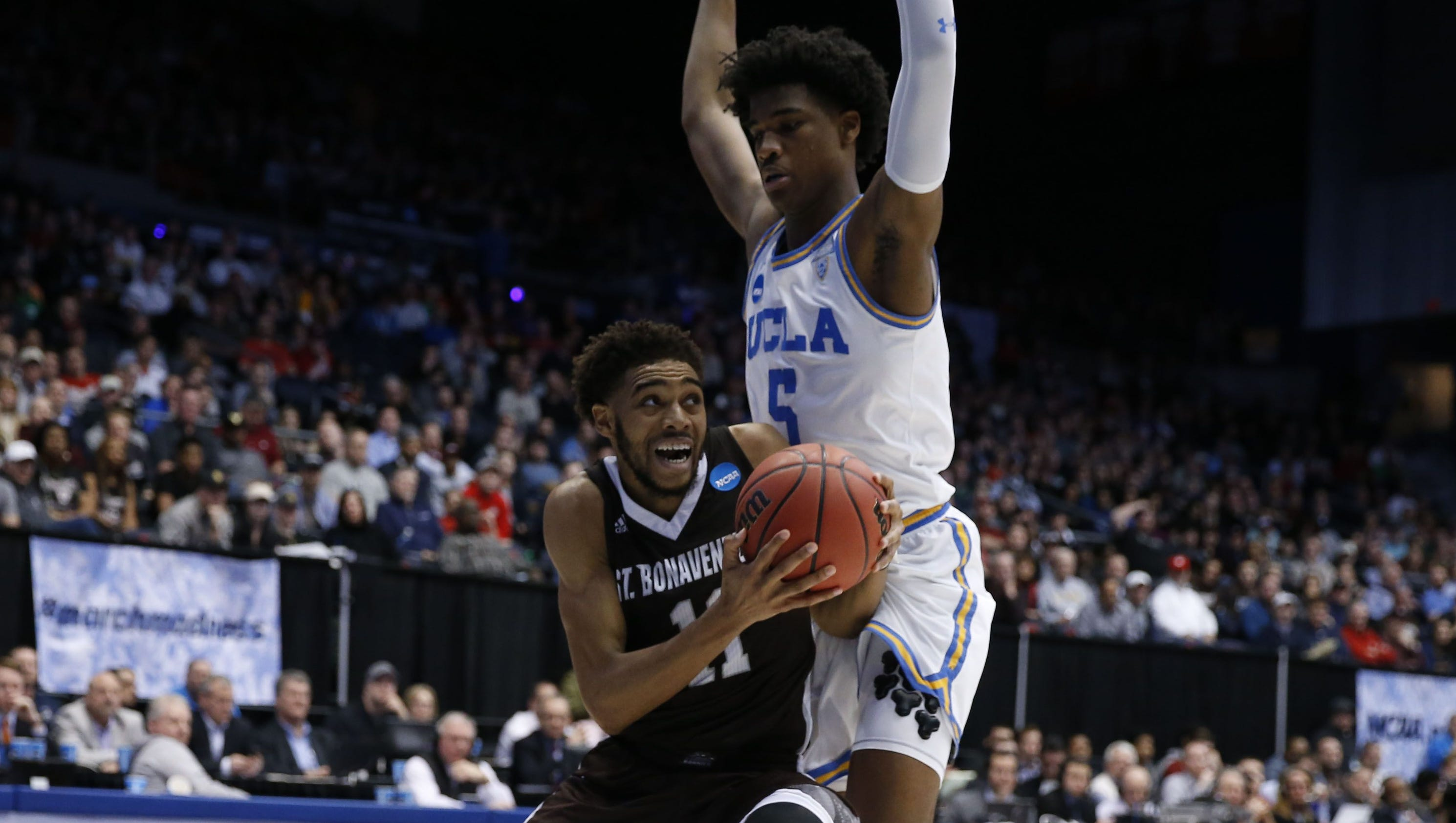 Courtney Stockard, St. Bonaventure power past UCLA in NCAA tournament First Four game