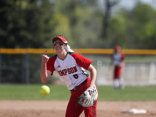 Simpson freshman Sydney Moorhead throws a pitch during a win over Benedictine University on Monday.