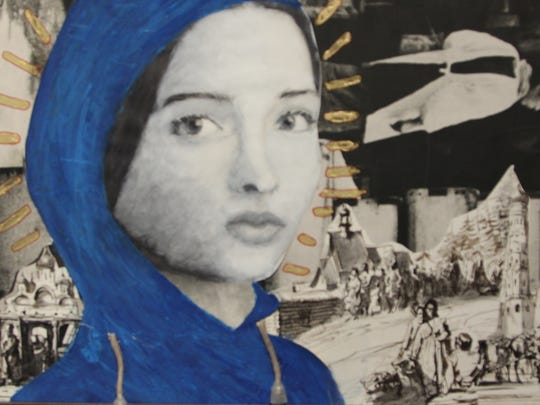 "Mixed media art entitled ""Madonna"" was created by Leon High senior Lily Fineout."