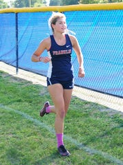 Franklin's Kaylee English is pictured during a meet