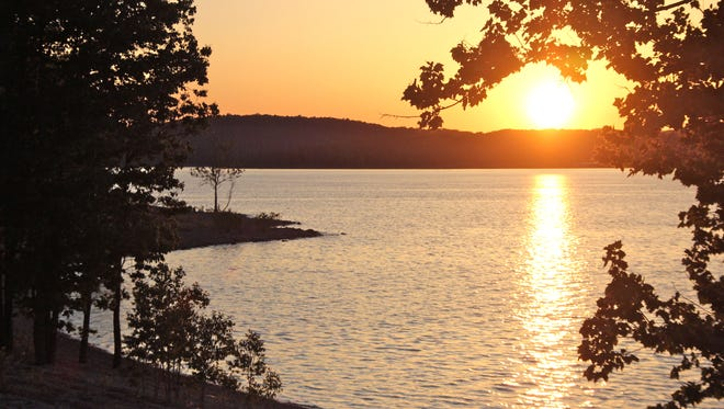 The Mill Creek Campground and boat ramp area on the White River arm of Table Rock Lake is a great place to catch a sunset.