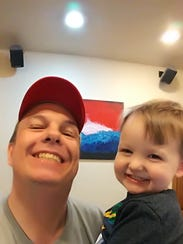 Samsung Note 7 owner David Jones with his grandson