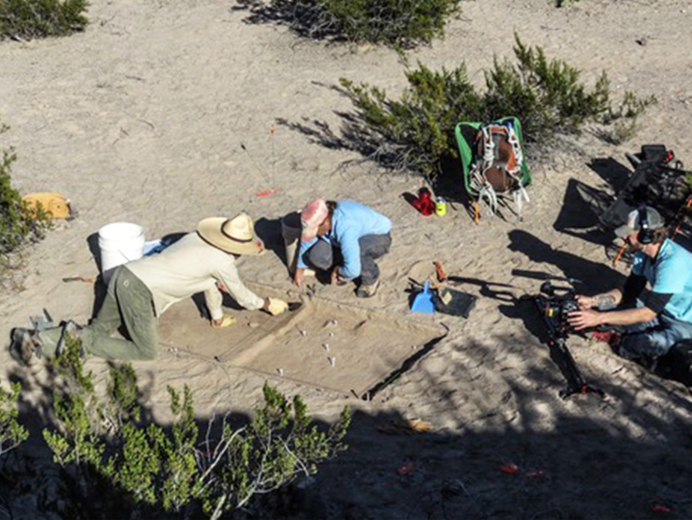 An excavation of the Porvenir massacre site was done