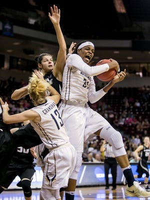 George Washington center Jonquel Jones is among the Phoenix Mercury first-round draft prospects. She led the nation in rebounding (14.6  pg) as a senior while averaging 16.2 points.