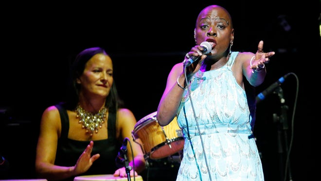 Sharon Jones and the Dap-Kings open for Daryl Hall and John Oates  Wednesday, Sept. 14, 2016 in Phoenix.
