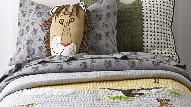 Remember Tawny Scrawny Lion? He's on bedding now as part of the Land of Nod's partnership with Little Golden Books.